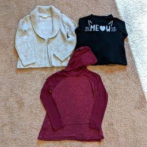 2 sweaters & 1 long sleeve